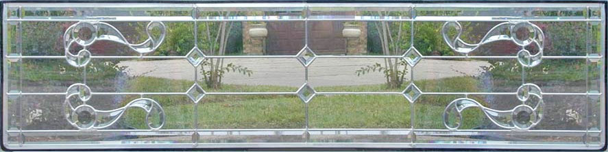 Custom Swirlies beveled glass transom window