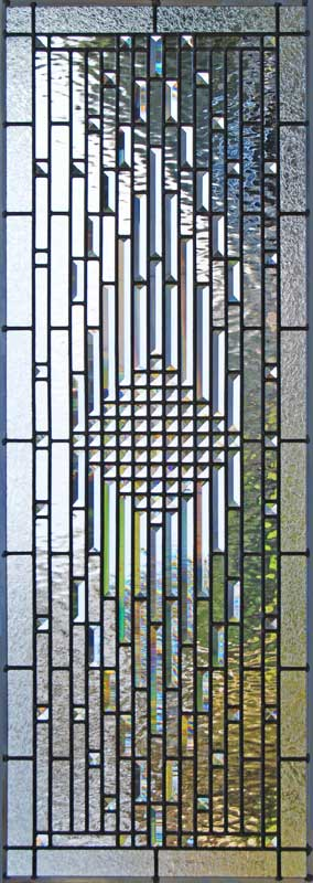 Custom leaded glass pencil bevels window