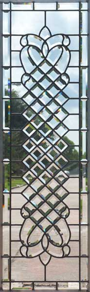 Custom leaded glass bevel sidelight chbd3ebpext window