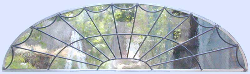 Custom leaded glass arched window