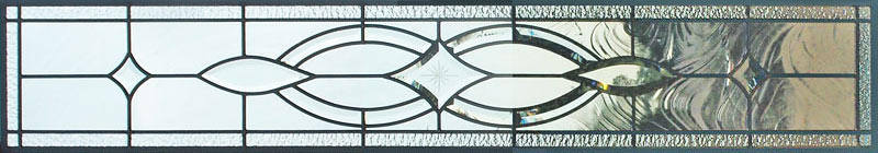 Custom leaded glass bevel transom window