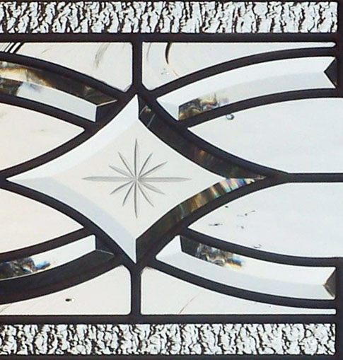 Custom leaded glass bevel sidelight window