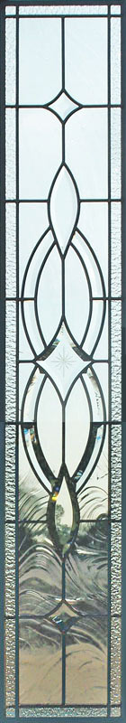 leaded glass bevel sidelight window custom glass design
