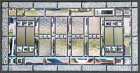 Custom leaded glass window abstract 30H