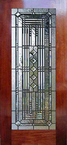 Custom ABSTRACT 38V abstract leaded glass pencil bevel door window