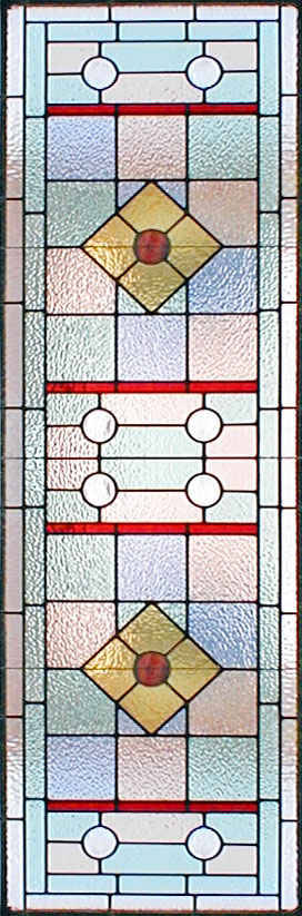 Art Deco style custom stained and leaded glass window