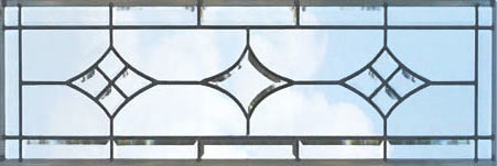 Custom CH76H leaded glass beveled transom window