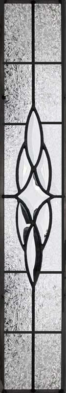 leaded glass sidelight window