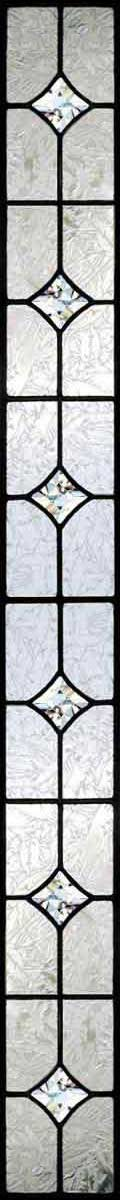 ZOOM to beveled stars leaded glass sidelight window