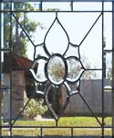 HG12P custom leaded beveled glass window