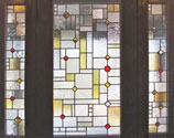 Custom stained and leaded glass Frank Lloyd Wright inspired FLW03 window