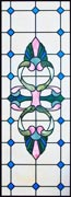 Custom stained and leaded glass Vic51 Victorian style window