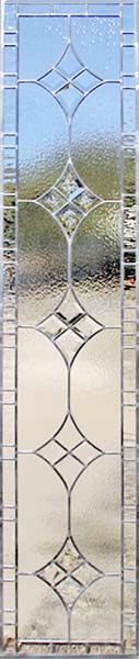 Custom leaded bevel glass sidelight window
