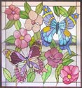 stained and leaded glass butterflies custom window