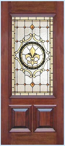 stained and leaded glass Victorian style door