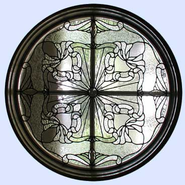 hoganp leaded glass circle window