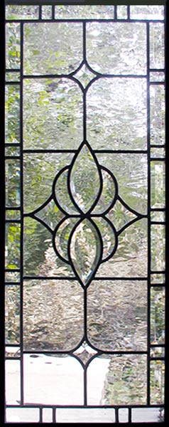 Custom leaded glass sidelight window