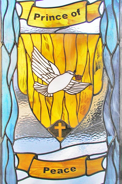 Prince of Peace custom stained glass and leaded glass religious window