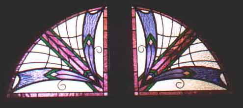 stained and leaded art deco style windows