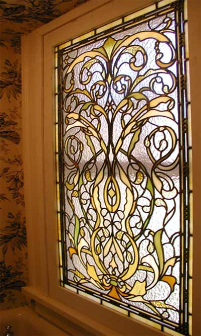 spokane custom stained glass privacy window
