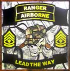 airborne ranger stained and leaded glass custom designed windows