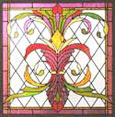 donated stained and leaded glass window