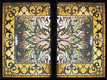 HRHC stained glass Victorian style window