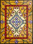 LANGSTON stained leaded glass Victorian style window
