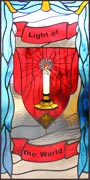 Light of the World custom stained glass and leaded glass window