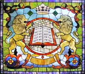 Sons of Israel custom stained and leaded glass window