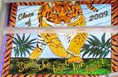 Class of 2009 stained glass tiger school window