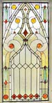 Visconte custom stained and leaded glass Victorian style window