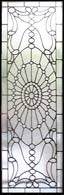 wEINERP custom leaded glass jeweled window