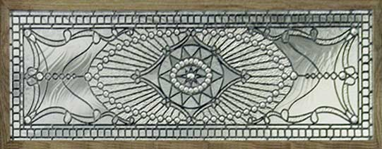 Custom leaded glass Victorian style transom window