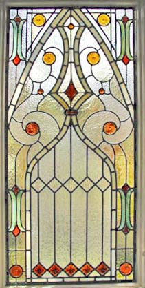 Visconte Victorian style stained and leaded glass window